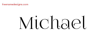 Vintage Name Tattoo Designs Michael Free Download