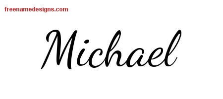 Gallery For gt The Name Michael In Cursive Writing