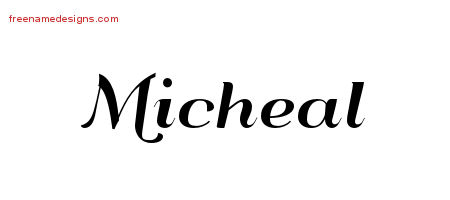 Art Deco Name Tattoo Designs Micheal Graphic Download