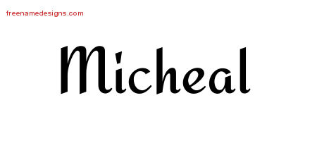 Calligraphic Stylish Name Tattoo Designs Micheal Download Free