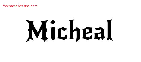 Gothic Name Tattoo Designs Micheal Free Graphic