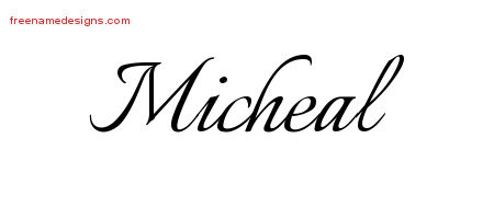 Calligraphic Name Tattoo Designs Micheal Download Free