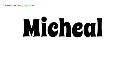 Groovy Name Tattoo Designs Micheal Free