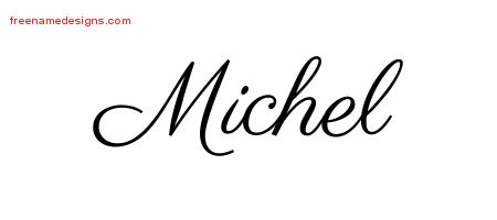 Classic Name Tattoo Designs Michel Printable