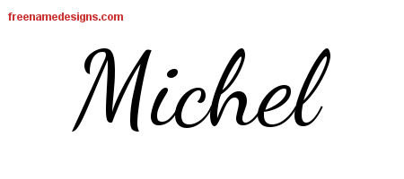 Lively Script Name Tattoo Designs Michel Free Printout