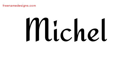 Calligraphic Stylish Name Tattoo Designs Michel Free Graphic