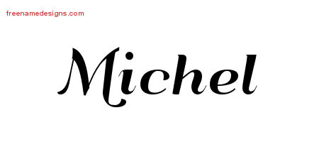Art Deco Name Tattoo Designs Michel Printable
