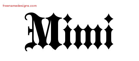 mimi-name-design Old English I Template Letters on