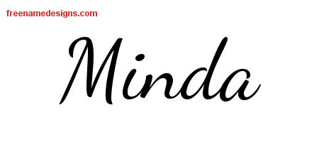 Lively Script Name Tattoo Designs Minda Free Printout