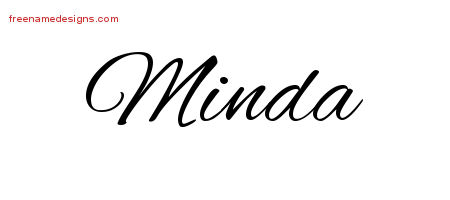 Cursive Name Tattoo Designs Minda Download Free
