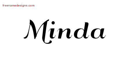 Art Deco Name Tattoo Designs Minda Printable