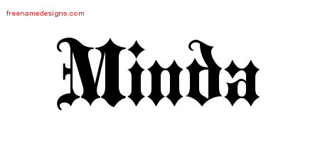 Old English Name Tattoo Designs Minda Free