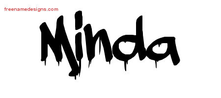 Graffiti Name Tattoo Designs Minda Free Lettering