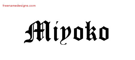 Blackletter Name Tattoo Designs Miyoko Graphic Download