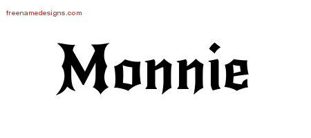 Gothic Name Tattoo Designs Monnie Free Graphic
