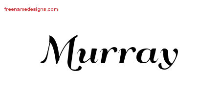 Art Deco Name Tattoo Designs Murray Graphic Download