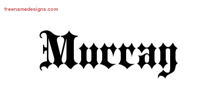 Old English Name Tattoo Designs Murray Free Lettering