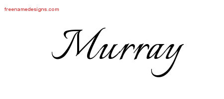 Calligraphic Name Tattoo Designs Murray Free Graphic