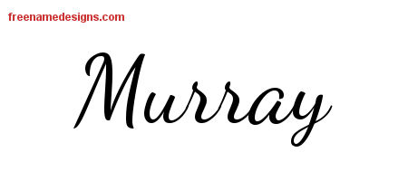 Lively Script Name Tattoo Designs Murray Free Download