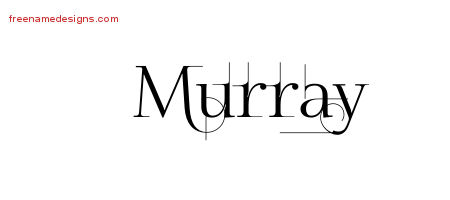 Decorated Name Tattoo Designs Murray Free Lettering