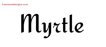 Calligraphic Stylish Name Tattoo Designs Myrtle Download Free