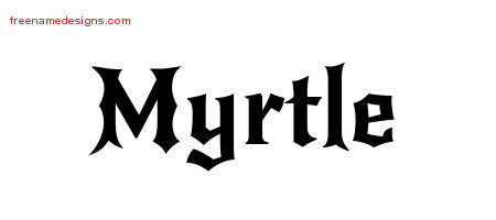 Gothic Name Tattoo Designs Myrtle Free Graphic