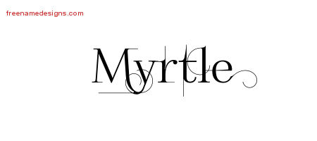 Decorated Name Tattoo Designs Myrtle Free