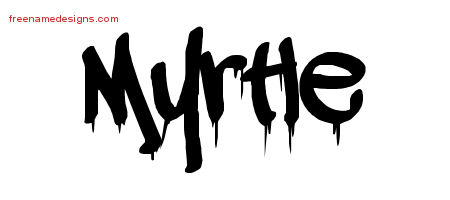 Graffiti Name Tattoo Designs Myrtle Free Lettering