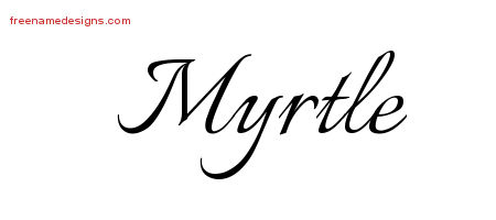 Calligraphic Name Tattoo Designs Myrtle Download Free