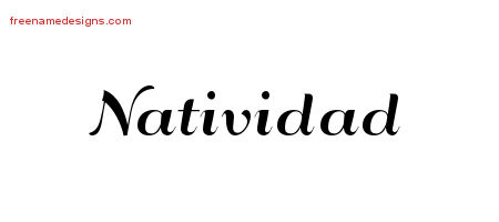 Art Deco Name Tattoo Designs Natividad Printable