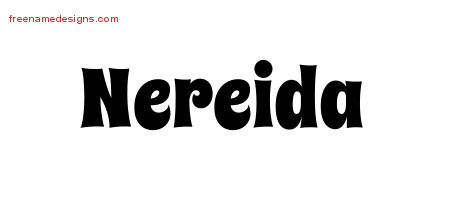 Groovy Name Tattoo Designs Nereida Free Lettering