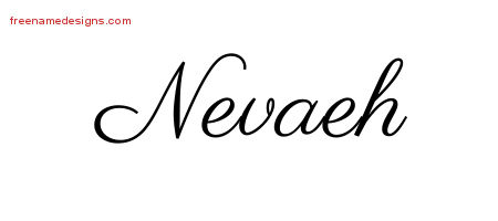 Classic Name Tattoo Designs Nevaeh Graphic Download - Free ...