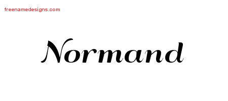 Art Deco Name Tattoo Designs Normand Graphic Download