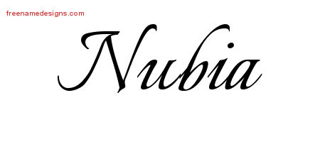Calligraphic Name Tattoo Designs Nubia Download Free