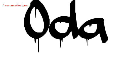 Graffiti Name Tattoo Designs Oda Free Lettering