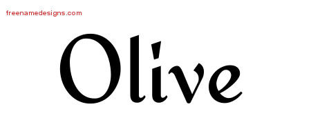 Calligraphic Stylish Name Tattoo Designs Olive Download Free