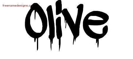 Graffiti Name Tattoo Designs Olive Free Lettering