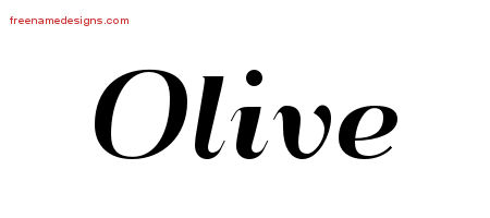 Art Deco Name Tattoo Designs Olive Printable