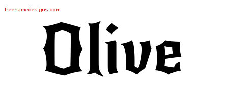 Gothic Name Tattoo Designs Olive Free Graphic