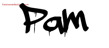 Graffiti Name Tattoo Designs Pam Free Lettering