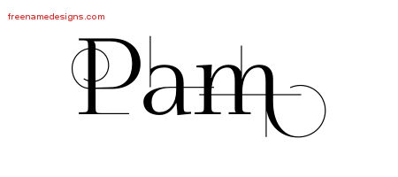 Decorated Name Tattoo Designs Pam Free