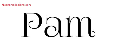 Vintage Name Tattoo Designs Pam Free Download