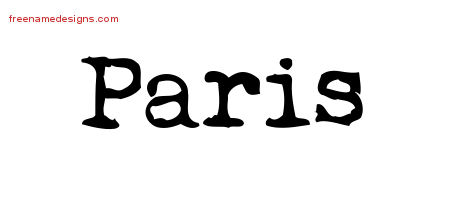 Vintage Writer Name Tattoo Designs Paris Free