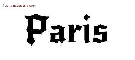 Gothic Name Tattoo Designs Paris Download Free