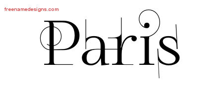 Decorated Name Tattoo Designs Paris Free Lettering