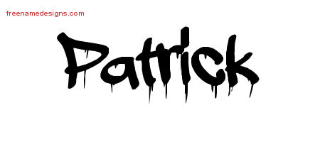 Patrick Graffiti Name Tattoo Designs