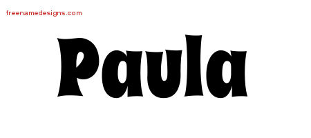 Groovy Name Tattoo Designs Paula Free Lettering