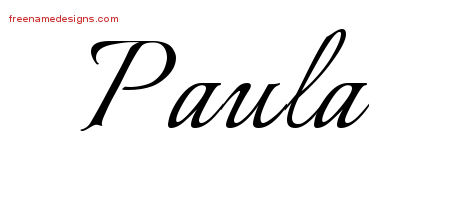 Calligraphic Name Tattoo Designs Paula Download Free