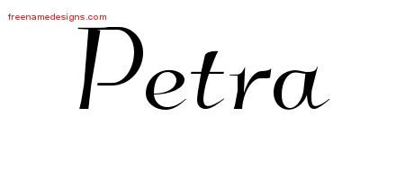 Elegant Name Tattoo Designs Petra Free Graphic