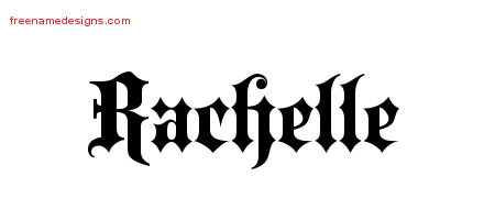 Old English Name Tattoo Designs Rachelle Free